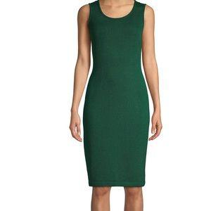 St. John Santana Knit Emerald Sleeveless Dress